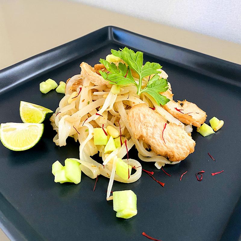 SoMeat Rice Noodle Salad with Saffron