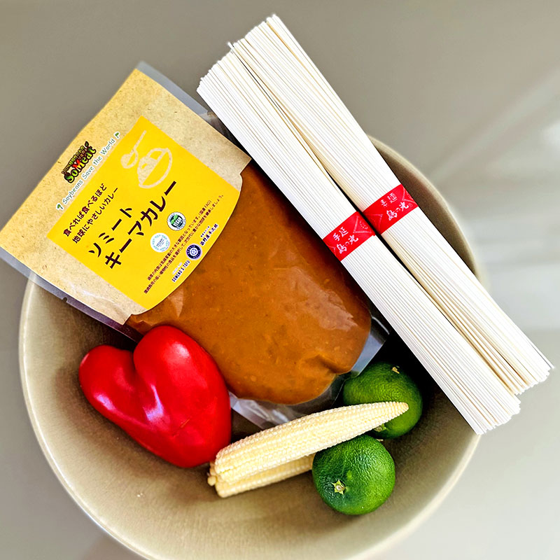 簡単で美味しいソミートキーマカレーのサマーヌードル